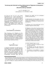 Biostoffverordnung (BioStoffV)