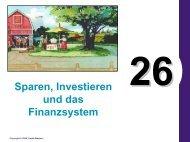 Sparen, Investieren und das Finanzsystem
