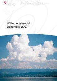Witterungsbericht Dezember 2007 - MeteoSchweiz