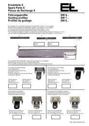 Ersatzteile X Spare Parts X Pièces de Rechange X ... - Erhardt+Leimer