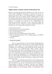 Digitale Literatur - Torsten Liesegang
