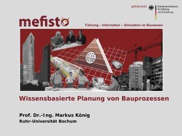 Wissensbasierte Planung von Bauprozessen - Mefisto