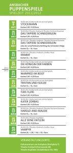 Puppenspiele Programm 2011-12b.indd - Stadt Ansbach - Seite 2