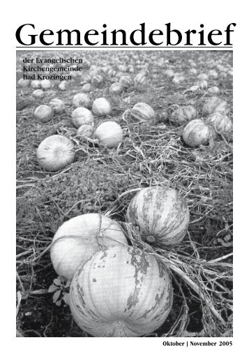 Gemeindebrief Oktober/November 2005 - Evangelische ...