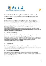 DOWNLOAD Curriculum (PDF, 224 KB) - beim Projekt ELLA!