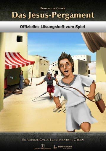 Offizielles Lösungsheft zum Spiel - Bibelvideos