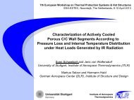 Characterization of Actively Cooled Porous C/C Wall Segments ...