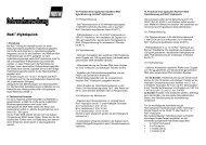 Gebrauchsanweisung/Technische Informationen - Carl Roth