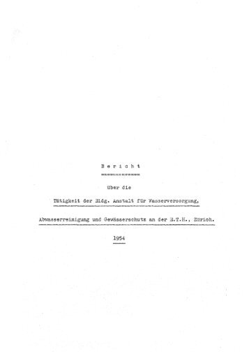 Tatigkeit der Eidg. Anstalt fiir - Eawag-Empa Library