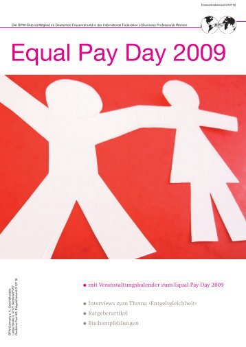 Equal Pay Day 2009 - BPW Germany