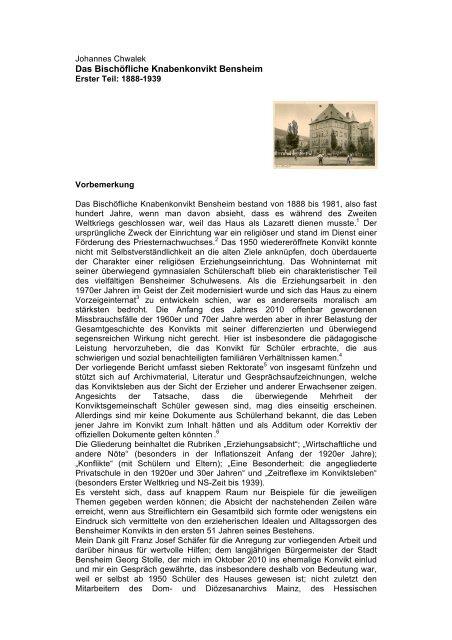 Konvikt-Aufsatz 1.pdf - Johannes Chwalek - Veröffentlichungen