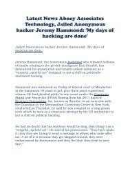 Latest News Abney Associates Technology Jailed Anonymous hacker Jeremy Hammond 'My days of hacking are done'.pdf