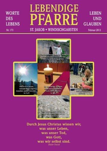 Pfarrbrief 173 - 2013 - Pfarre Windischgarsten