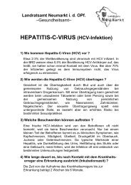 HEPATITIS-C-VIRUS (HCV-Infektion) - Landkreis Neumarkt