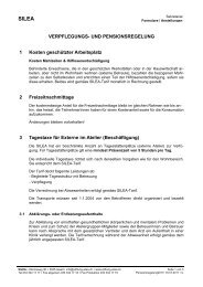 VERPFLEGUNGS- UND PENSIONSREGELUNG 1 Kosten ... - Silea