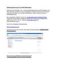 Selbstregistrierung für die PES-Mitarbeiter