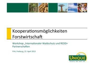 Kooperationsmöglichkeiten_Forstwirtschaft - Climate Focus