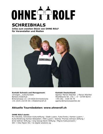 SCHREIBHALS - Agentur Marion Wächter