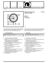 LEYBOLD DIDACTIC GMBH Gebrauchsanweisung 361 15 ...