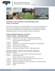 Einladung zu den faszinatour Innovationstagen 2010