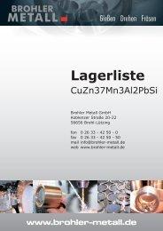 Lagerliste - Brohler-Metall GmbH