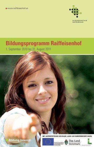 Bildungsprogramm 2010 - Steiermarkhof