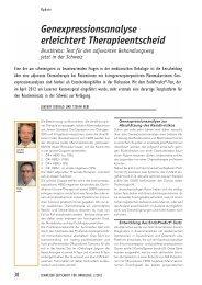 Genexpressionsanalyse erleichtert Therapieentscheid - Luzerner ...