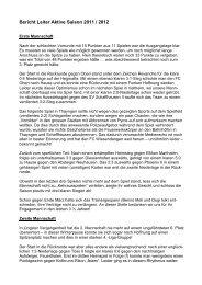 Bericht Leiter Aktive Saison 2011 / 2012 - FC Wiesendangen