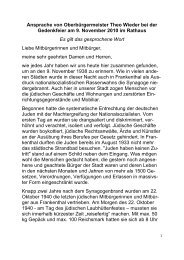 Ansprache von Oberbürgermeister Theo Wieder ... - Stadt Frankenthal