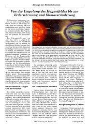 Von der Umpolung des Magnetfeldes bis zur Erderwärmung und ...