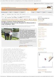 Karlheinz Töchterle: Starkes Bekenntnis zu ... - Sparkling Science