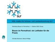 Bauen im Permafrost: ein Leitfaden für die Praxis - SLF