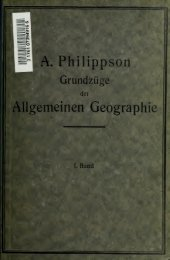 Grundzüge der allgemeinen Geographie