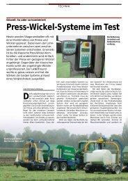 Press-Wickel-Systeme im Test - Schweizer Bauer