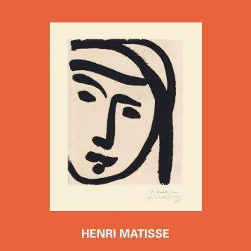 "Katalog ""Henri Matisse - Galerie Boisseree"