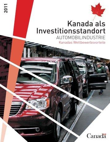 Kanada als Investitionsstandort