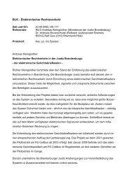 BLK - Elektronischer Rechtsverkehr