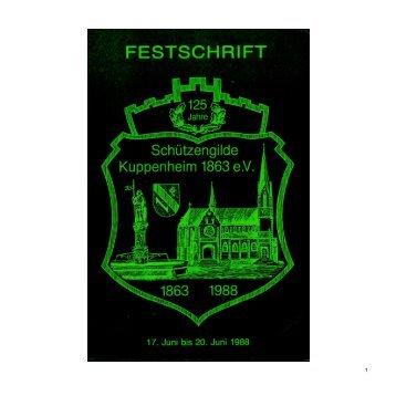 Chronik 125 Jahre - Schützengilde Kuppenheim 1863 e.V.