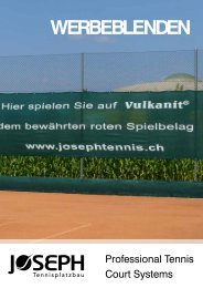 Werbeblenden Prospekt - Joseph Tennisplatzbau AG