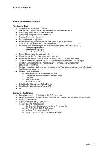 bit Informatik GmbH Seite: 1/2