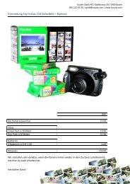 Vermietung Fuji Instax 210 Sofortbild – Kamera - Kovats Optik AG