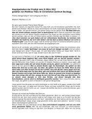 Neujahrsapero der Gemeinde Buchegg - Leserbeitrag