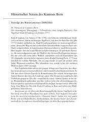 Vorträge des Wintersemesters 2000/2001 - Berner Zeitschrift für ...