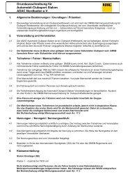 Reglement Clubsport - ADAC