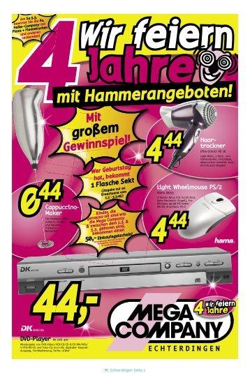 10S Echterdingen KW09-05 - Elektrofachmarkt MEGA COMPANY ...