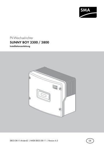 SUNNY BOY 3300/3800 - SMA Solar Technology AG