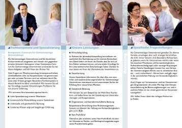 Spezialisierung Leistungen Beratung - Laufenberg Michels und ...