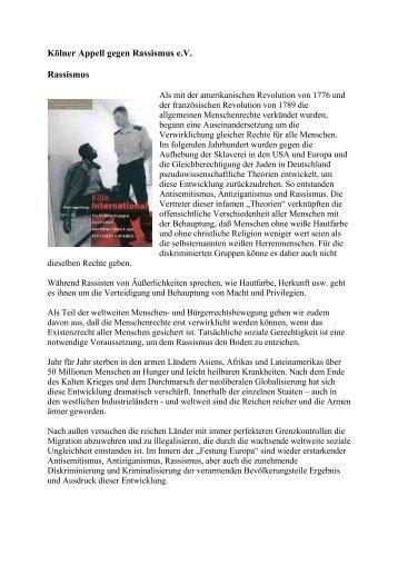Kölner Appell gegen Rassismus e