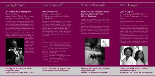 Georgskonzert Pitten ClassicsNEU Sommer-Serenade ... - KKK-Pitten