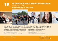 Spender motivieren, involvieren: BEGEISTERN! - Fundraising ...